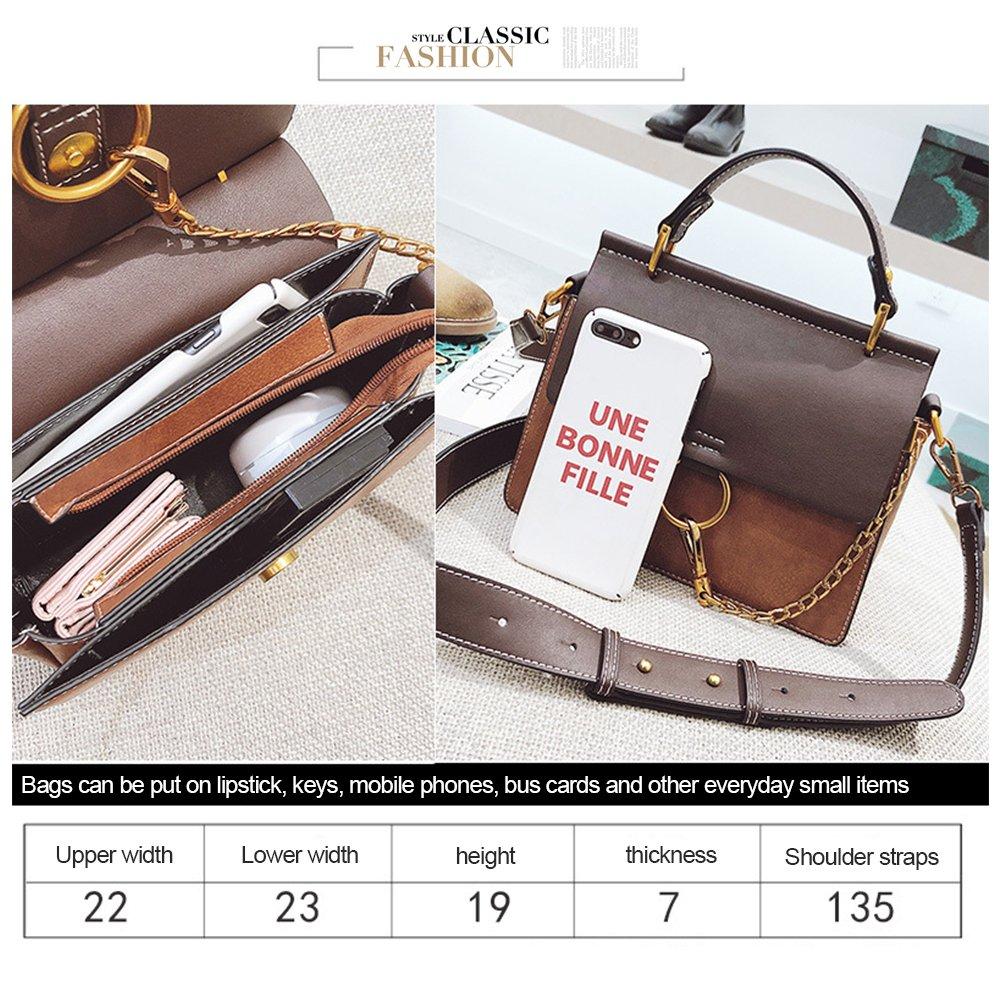 392338ef221d ... Yoome Womens Vintage Shoulder Bags Top Handle Handbags Crossbody Ring Bag  Designer Purse YooF047-Black ...