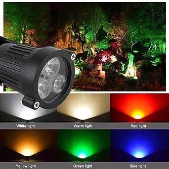 Leoboone 12V LED Pico Bombilla Lámpara Foco Proyector Jardín al ...