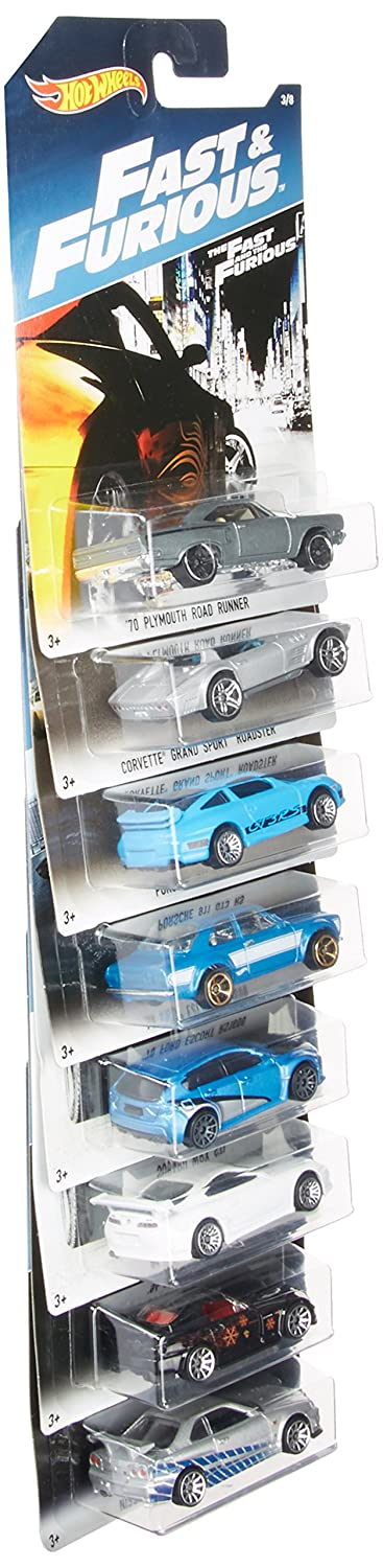 Hot Wheels 2017 Fast Furious Exclusive Bundle of 8