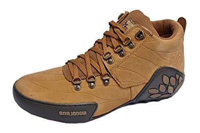 WOODLAND Men's CAMEL Leather Outdoor Shoes -9