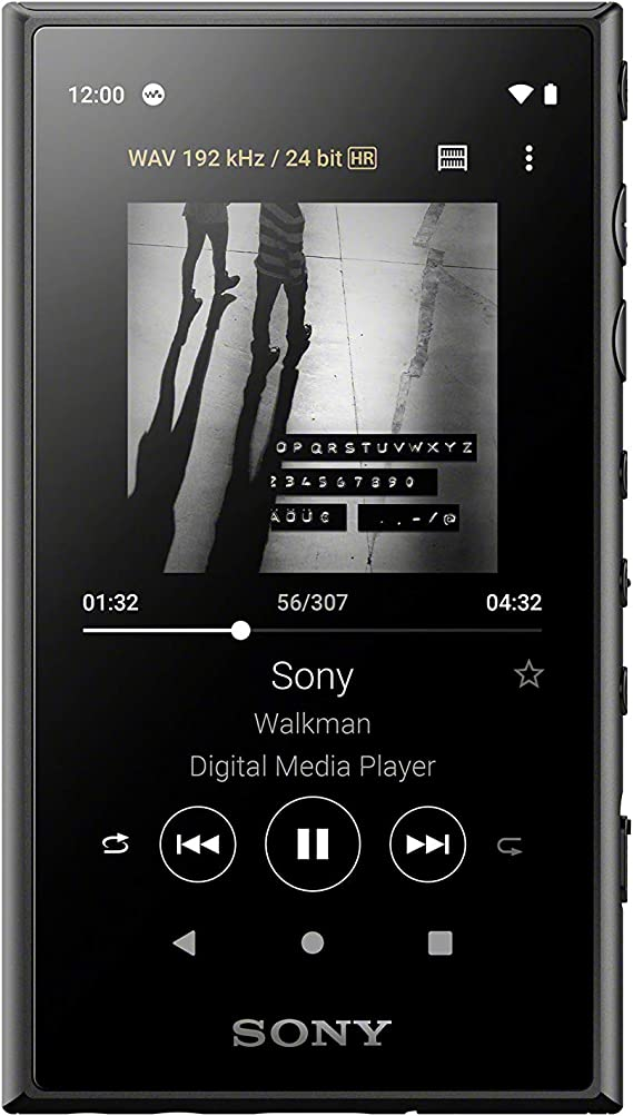 """Sony NW-A105 - Lettore musicale Walkman Android 16GB con Display touch 3,6"""", Hi-Res Audio, S-Master HX, DSEE HX, NFC, Bluetooth, Wi-Fi, Nero"""