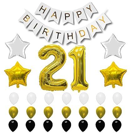 Globos de cumpleaños para 21 cumpleaños - Globos de ...