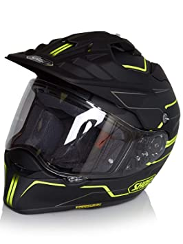 Casco Enduro Mx Shoei Hornet Adv Navigate Tc-3 Amarillo (Xl , Negro)