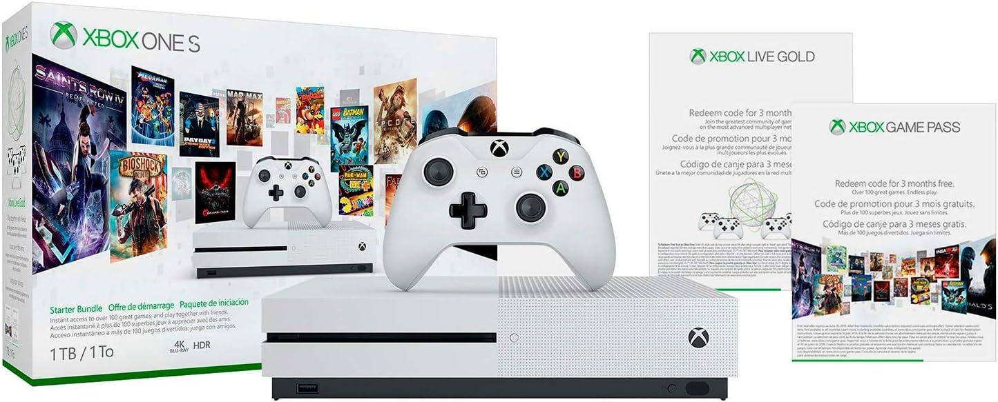 Amazon com: Xbox One S 1TB Console - Starter Bundle: Video Games