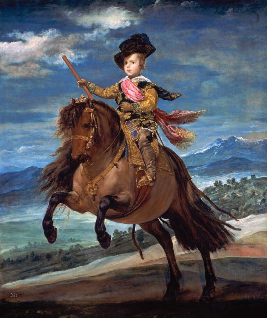 Kunst für Alle Impresión artística/Póster: Diego Rodriguez de Silva y Velazquez Prinz Balthasar Carlos zu Pferde - Impresión, Foto, póster artístico, 85x100 cm
