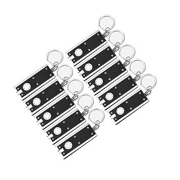 Linterna de llavero 10 unidades mini linterna llavero Ultra ligero Luz diminuta de antorcha Llavero de rectangular 45 lúmenes accesorios de senderismo