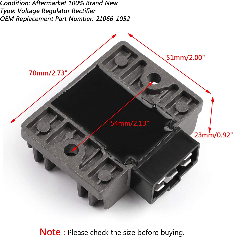 Artudatech Motorrad Spannungsregler Gleichrichter 12V Voltage Regulator Rectifier Steckerregler f/ür Kawasa-ki KL250 KLR250 KL600 KLR600 KLF220A Bayou 220