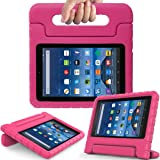 BMOUO All New Fire 7 2017 Case - Light Weight Shock Proof Handle Kid-Proof Cover Kids Case for All New Fire 7 Tablet (7th Generation, 2017 Release), Rose