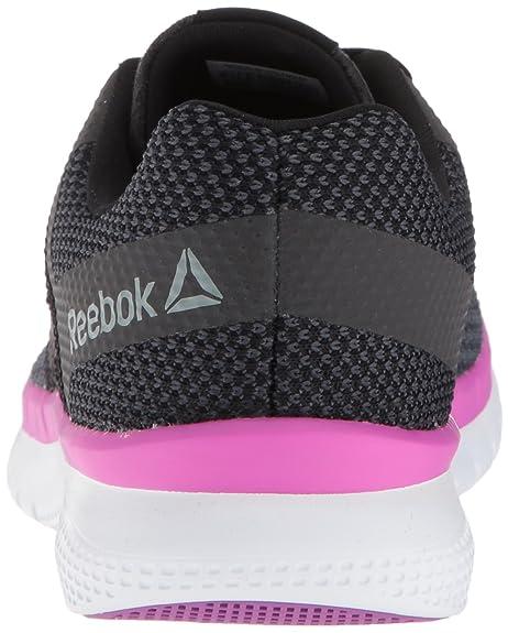 Womens Print Prime Runner Sneaker, Black/Gravel/Vicious Viol, 6.5 M US Reebok