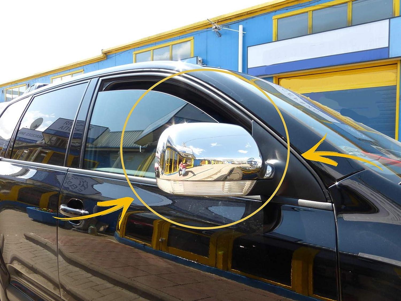 Lot de 2 coques de r/étroviseur en acier inoxydable chrom/é pour VW Touareg 2003 conduite /à gauche 2007