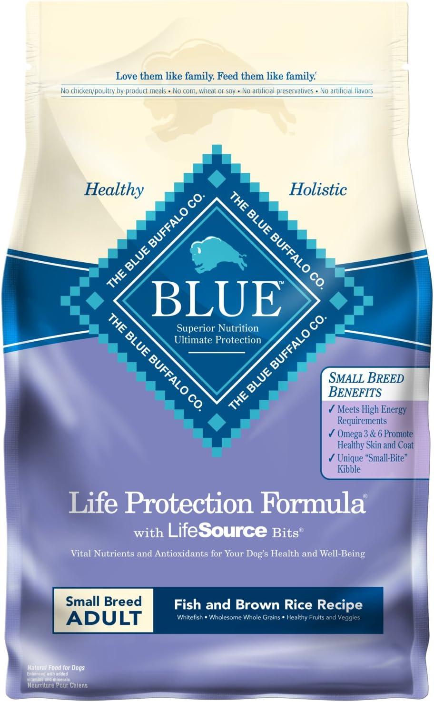 Blue Buffalo Life Protection Formula Natural Adult Small Breed Dry Dog Food, Fish and Brown Rice 6-lb