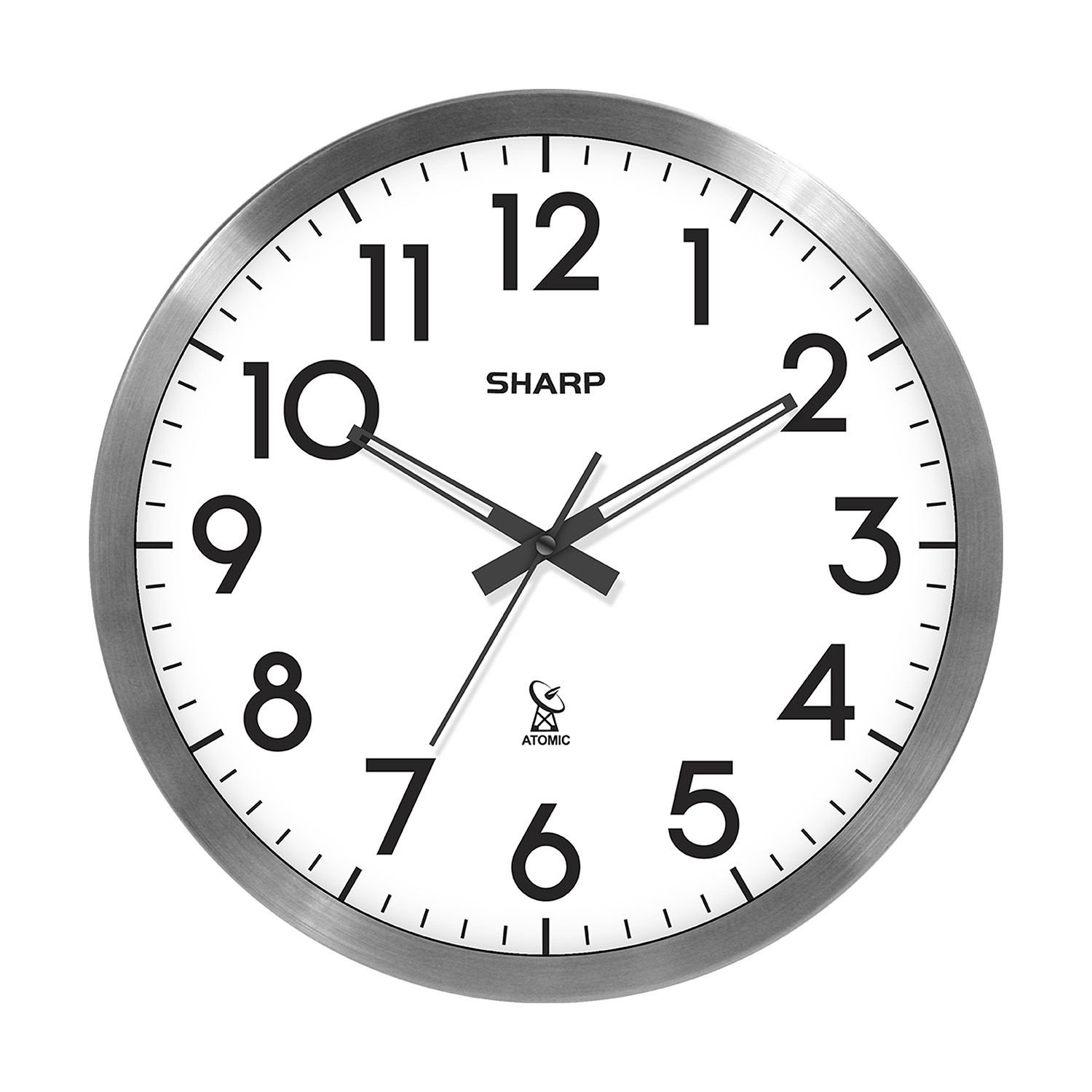 Amazon sharp 14 atomic wall clock home kitchen amipublicfo Image collections