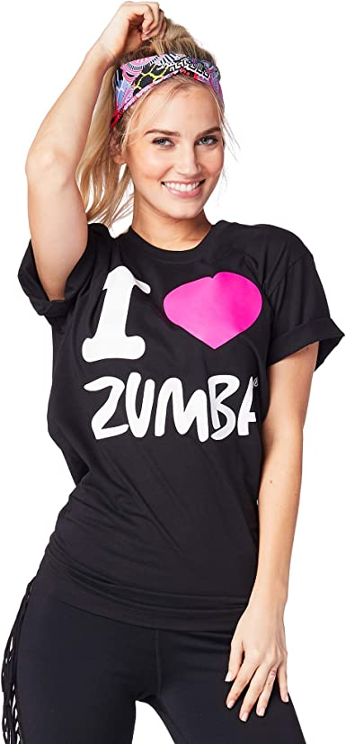 M//L Basic Bold Black 1 Zumba Breathable Fitness Unisex Workout Printed Graphic Tees for Women and Men