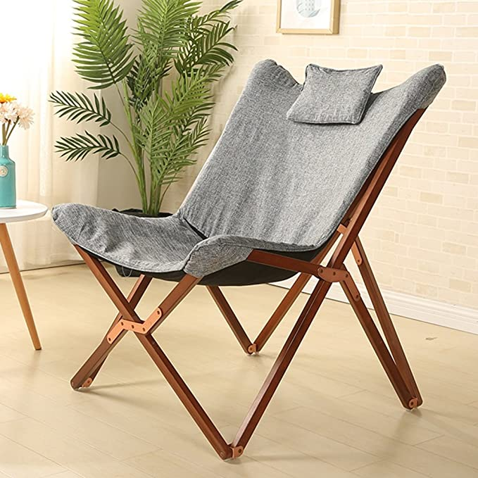 Amazon.com: ZXQZ Solid Wood Simple Folding Chair/Office Practical ...