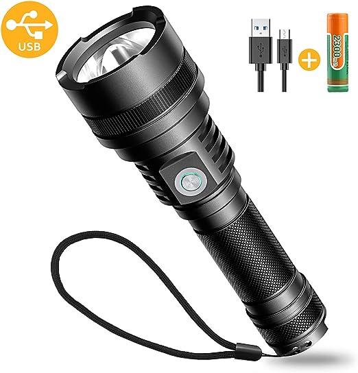 Wasserdicht Flashlight mit 4 Modi f/ür Kinder Outdoor Camping Wandern LED Taschenlampe Inklusive 18650 Batterie Winzwon USB Wiederaufladbare Taschenlampen LED Taschenlampe Extrem Hell