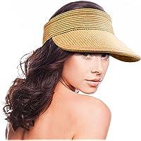 MAYLISACC Sombrero Paja, Sombrero Mujer Verano Playa, Plegable con Sombrero de ala Ancha, Visera Mujer Protección UV…