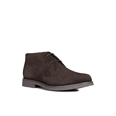 Geox Men's Man Claudio 18 Suede Chukka Ankle Boots, Coffee, EU/10, 43 M EU (10 US) | Boots