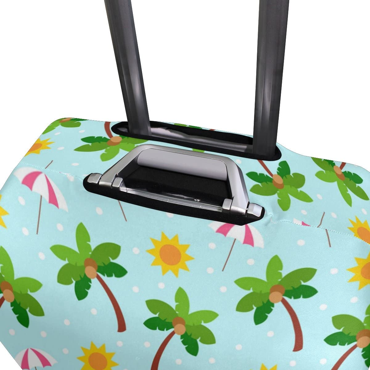 Elastic Travel Luggage Cover Sun Coconut Palm Parasol Suitcase Protector for 18-20 Inch Luggage