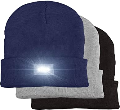 5 LED Beanie Gorra, LED Sombrero de Beanie, LED Gorro de punto ...