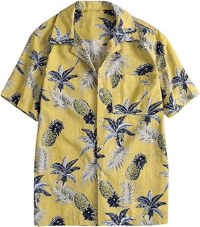 kingfansion Shirt for Men Slim-fit Long-Sleeve Poplin Short-Sleeve Work Shirt