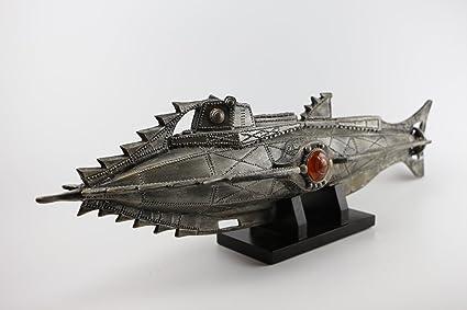 Submarino Nautilus Maqueta Nemo Capitán 51 cms barco: Amazon ...