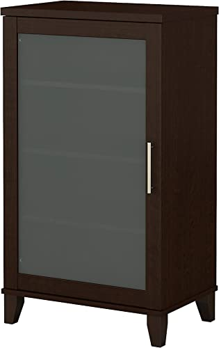 Bush Furniture Somerset Media Accent Cabinet, Mocha Cherry