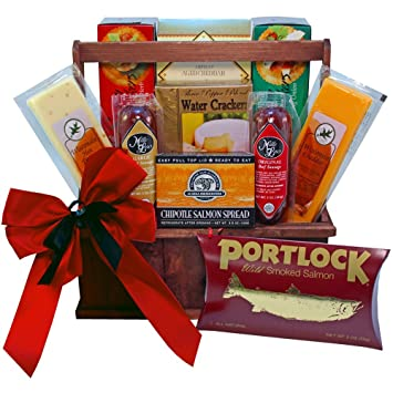Amazon.com : Meat and Cheese Lovers Gourmet Food Gift Basket with ...