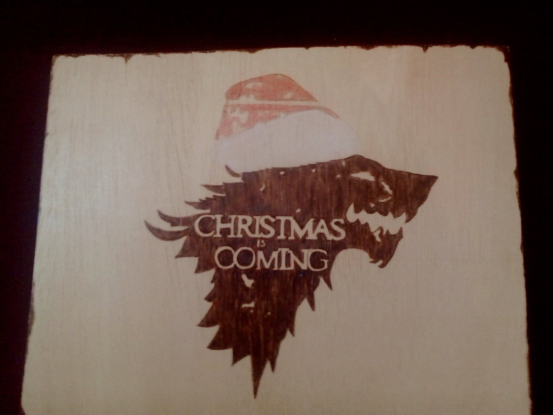 Amazon.com: woodburning Christmas is Coming. Pyrography ...