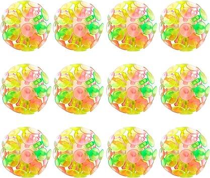 Toyvian 12 Piezas Juguete de Bolas de Ventosa Juguete de Pelota de ...