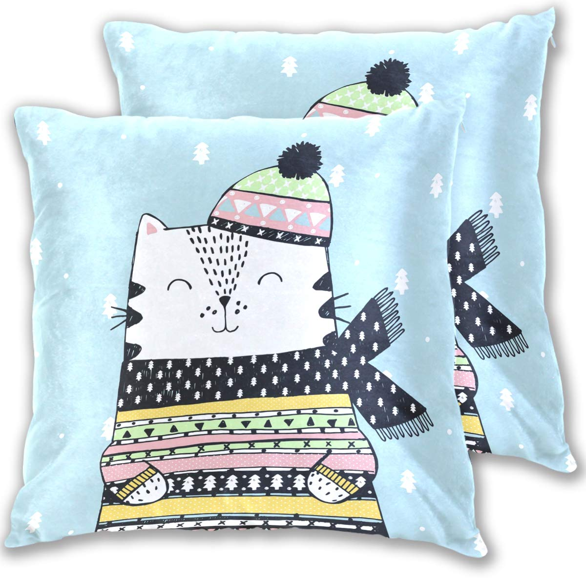 Groovy Amazon Com Wamika Winter White Cat Cap Pillowcase Pillow Gmtry Best Dining Table And Chair Ideas Images Gmtryco