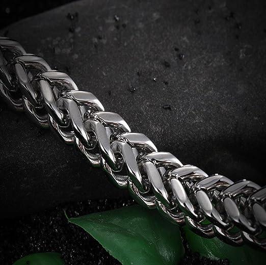 ff42f833a355 Caiyan pulsera para hombres Titanio de acero de una sola capa V-tipo de  joyería