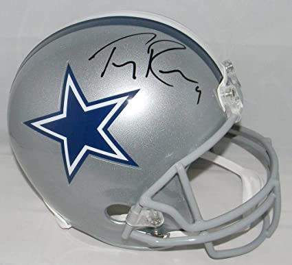 detailed look 43b1f 8bf8b Amazon.com: Tony Romo Signed Helmet - F s Full Size - JSA ...