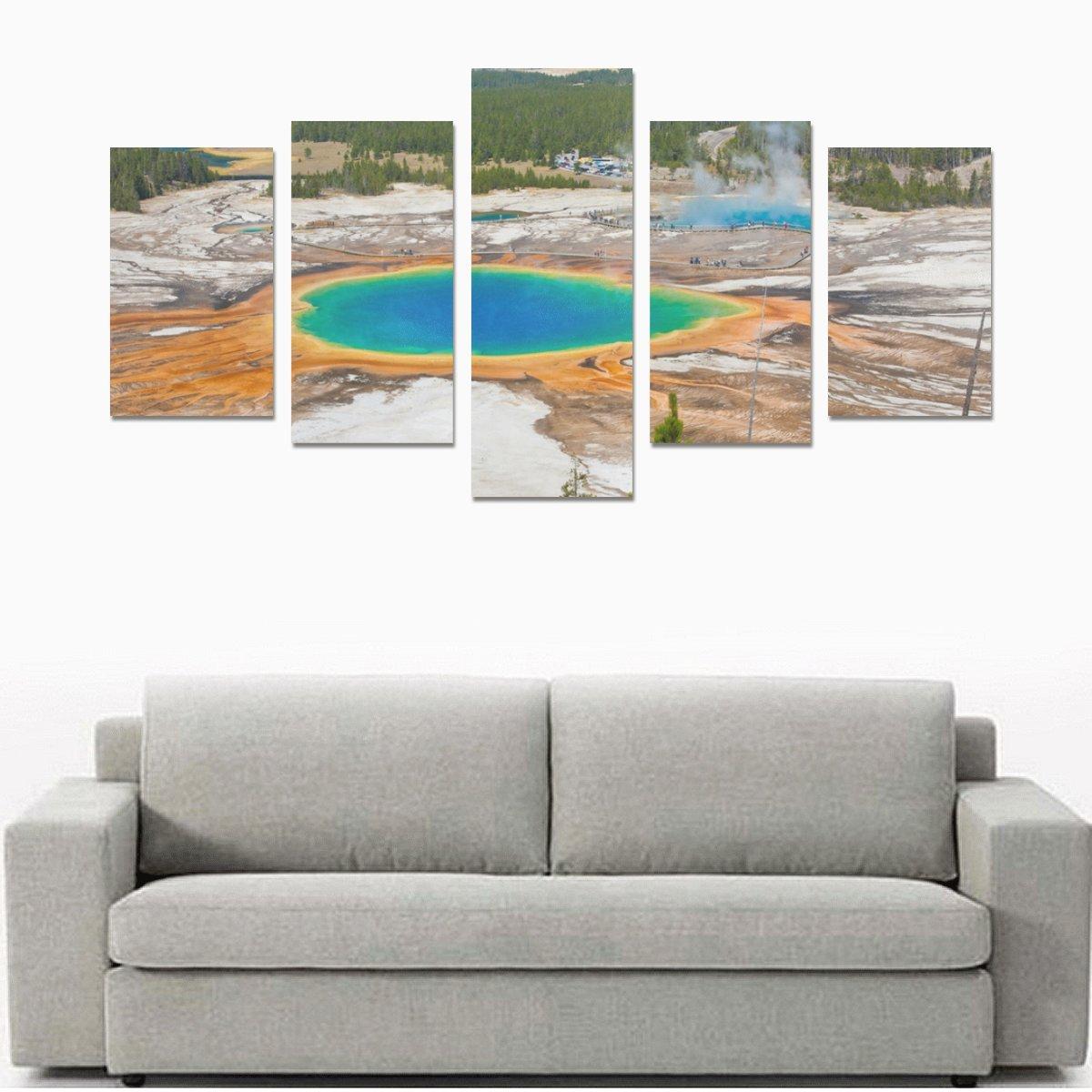 イエローストーン国立公園印刷5ピース壁アートペイントプリントキャンバスホーム装飾リビングルームキッチンの装飾( 12 x 20inch 2個、12 x 23inch 2個、12 x 31inch 1pc )   B0788R2Z2M