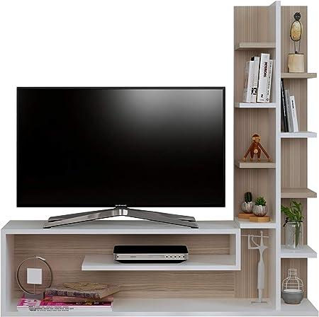 Glory Mueble salón Comedor para televisión - Blanco/Avola - Mueble bajo para televisor - Mesa de Televisión en diseño Elegante: Amazon.es: Hogar