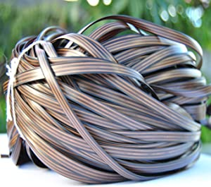 Wicker Repair Material, Synthetic Rattan Furniture Fix Kit Brown Flat Plastic Weaving Material for housing Rattan Furniture and Garden Chair Basket Patio Conversation Furtinue-280ft