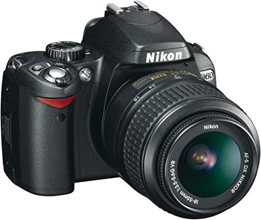 Nikon D60 - Cámara Réflex Digital 10.2 MP (Objetivo DX VR 18-55 mm ...