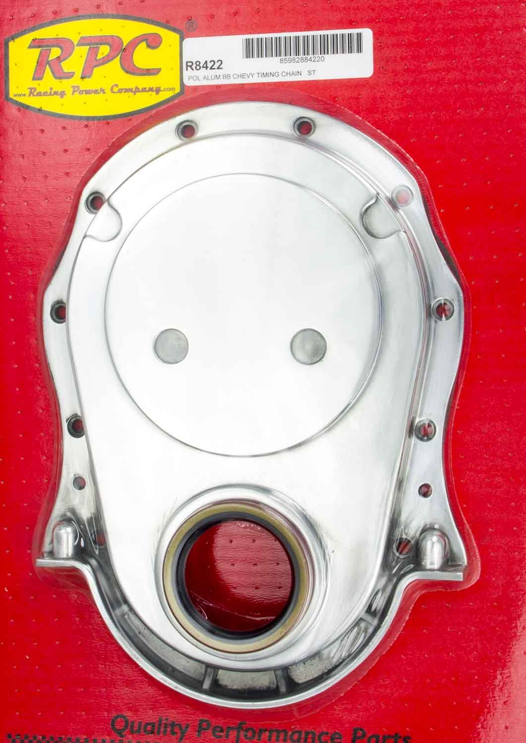 Racing Power Company R8422 Polished Aluminum Timing Chain Cover for Big Block Chevy