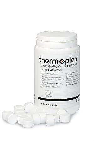 Pastillas de limpieza para máquinas de café THERMOPLAN | 90 pestañas con 3 G | negro
