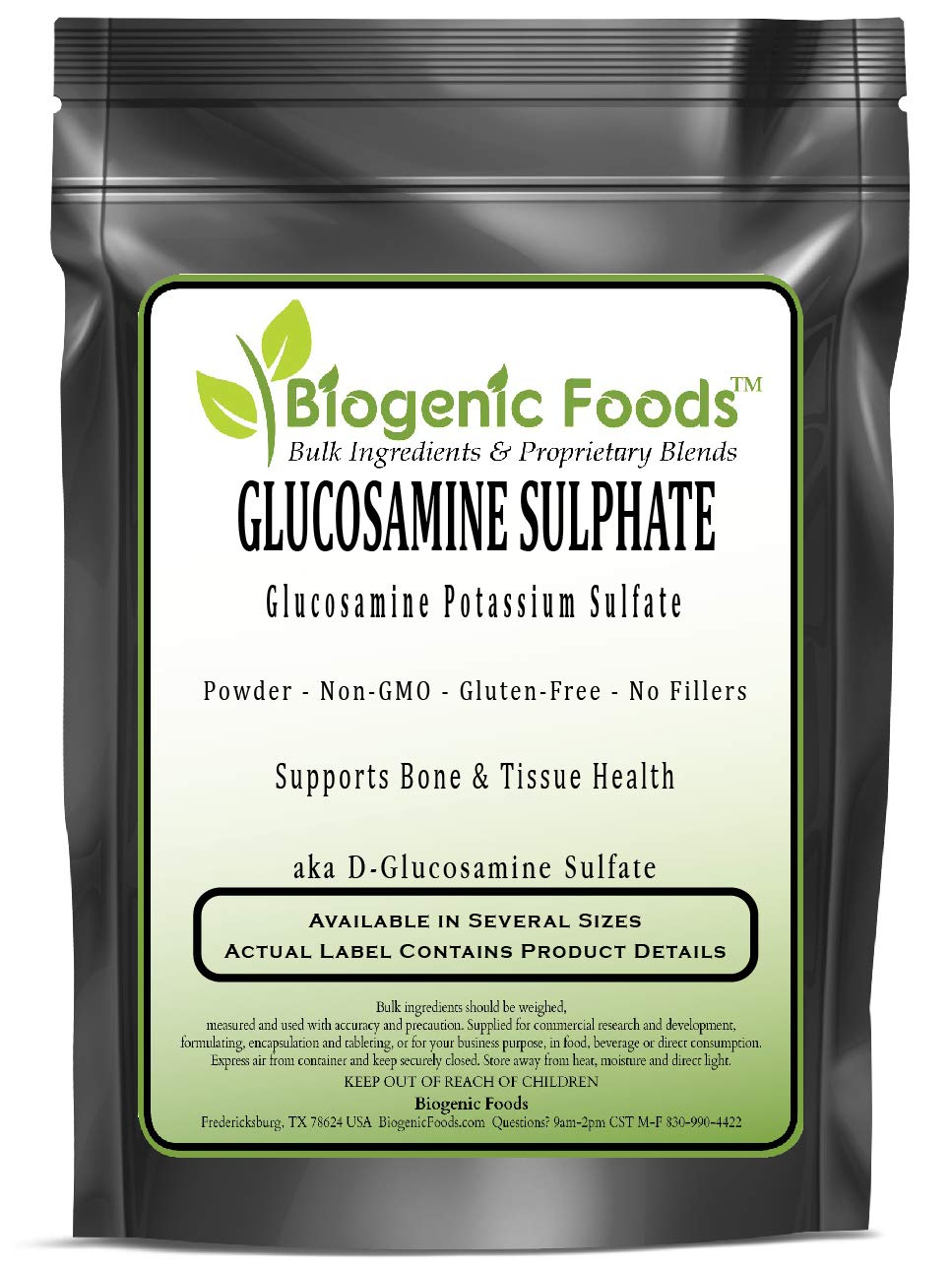 Glucosamine Sulphate - Glucosamine Potassium Sulfate Powder - aka D-Glucosamine Sulfate, 10 kg