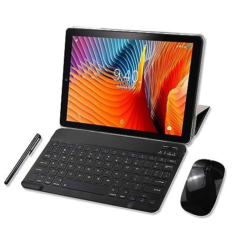 Tablet 10 Pulgadas YOTOPT, 4GB de RAM y 64 GB de Memoria, Android 9.0 Dobles SIM y TF, GPS WiFi Soporte (Negro