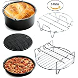 Universal Air Fryer Accessories for Phillips Gowise Cozyna etc, 5 Pcs of kit Fit all Standard Air Fryer 3.2-5.8QT