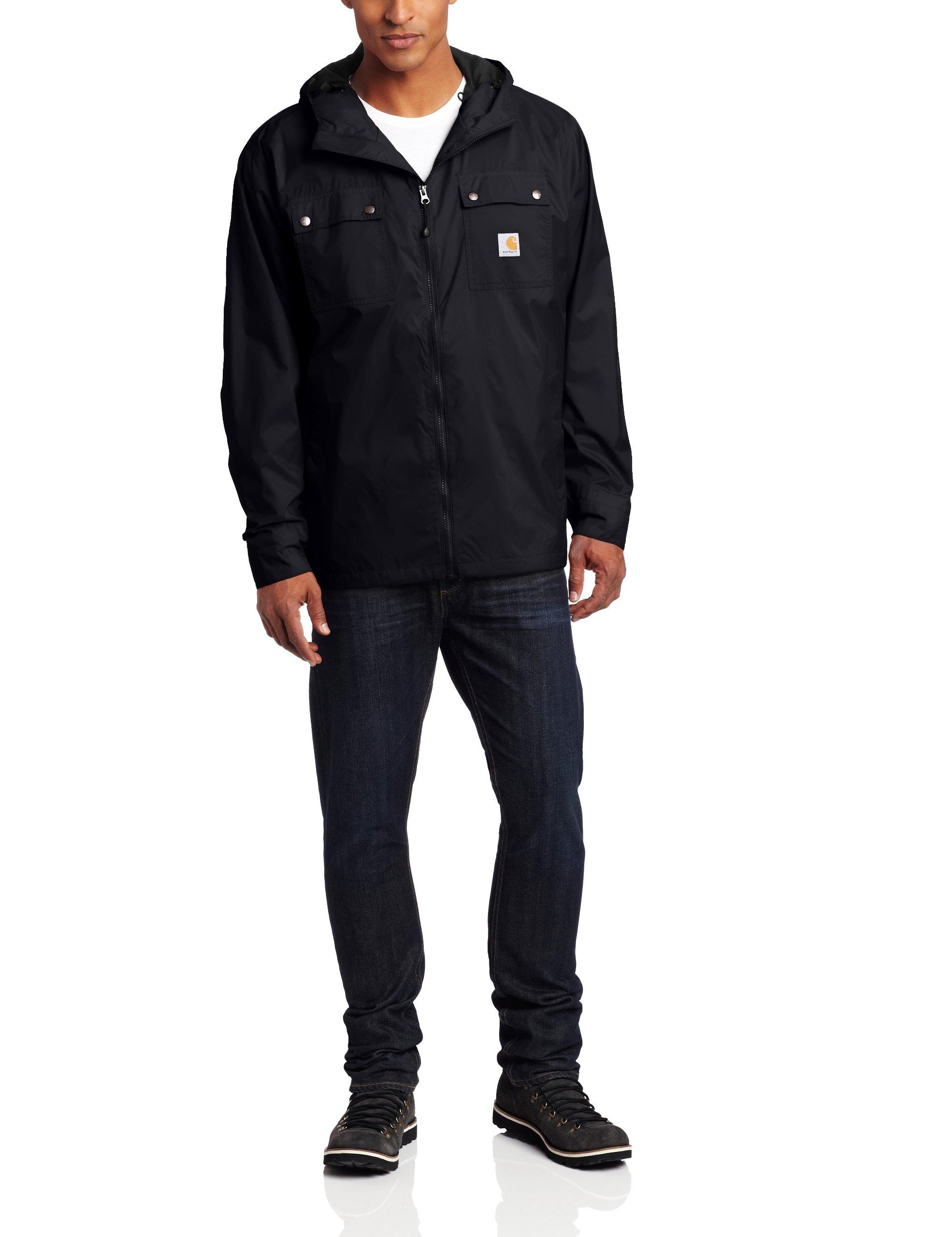 Carhartt Men's Big & Tall Rockford Rain Defender Jacket,Black,XX-Large Tall by Carhartt