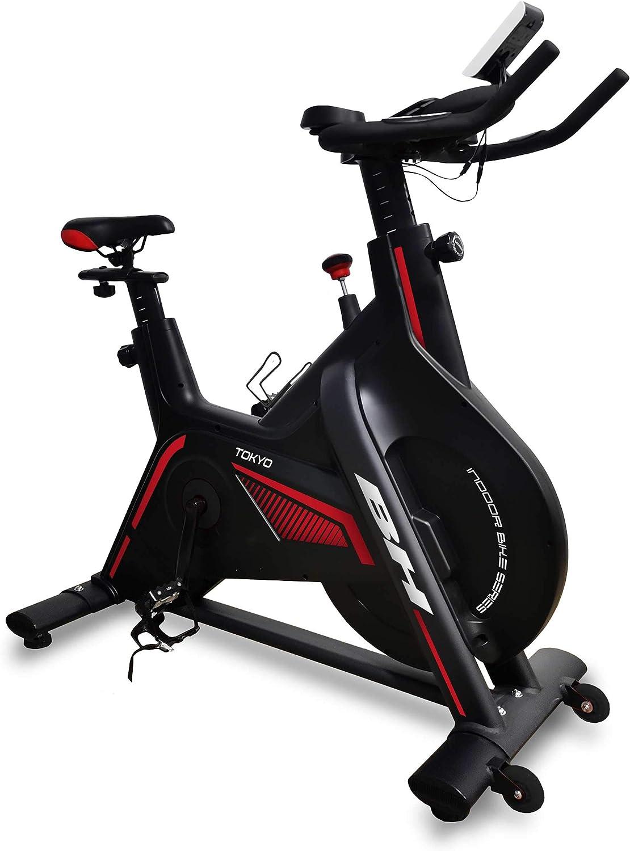 BH Fitness Tokio H9181 Ciclismo Indoor a fricción para Uso intensivo. Sistema de inerci de 20 Kg. Manillar de Triatlón y Pedales Mixtos: Amazon.es: Deportes y aire libre