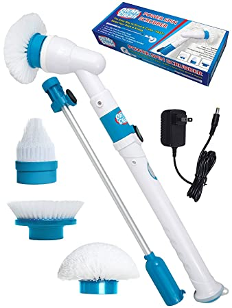 8th team Power Spin Scrubber Cleaning Brush - Upgraded Deluxe Electric Scrubber with 3 Brush Head