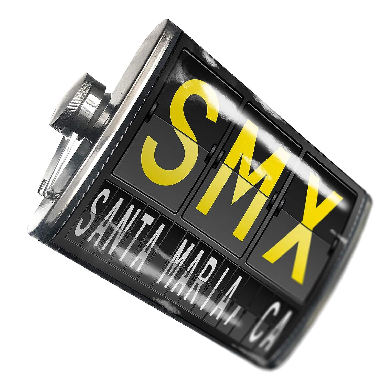8オンスフラスコステッチSMX Airportコードfor Santa Maria CAステンレススチール – ブロンド   B00QQVL20O
