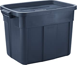 product image for Rubbermaid Roughneck️ Storage Totes 18 Gal Pack of 6 Durable, Reusable, Set of Plastic Storage Bins