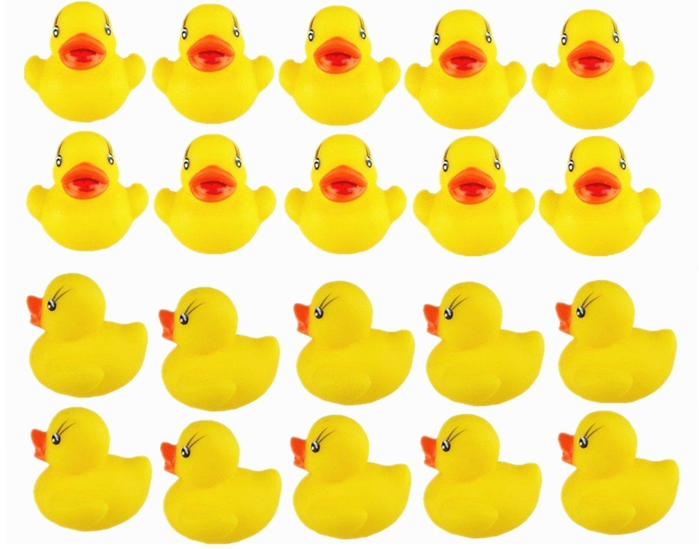 Carry stone Kleine Ente Spielzeug Ente Wasser Spielzeug kann 20 St/ück gelb f/ür Kinder Paty langlebig und praktisch klingen