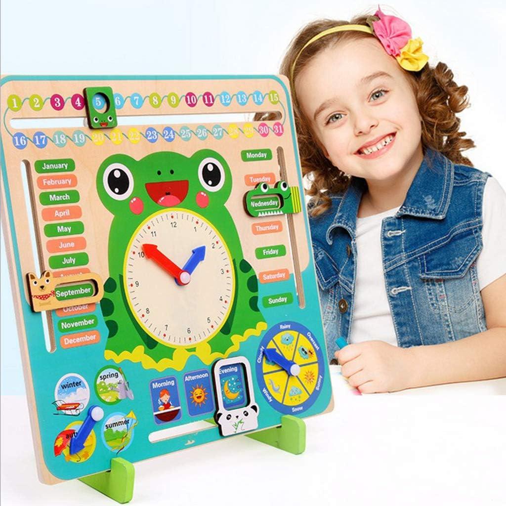 Toygogo Kids Calendar Weather Clock Preschool Board Games Educational Toys