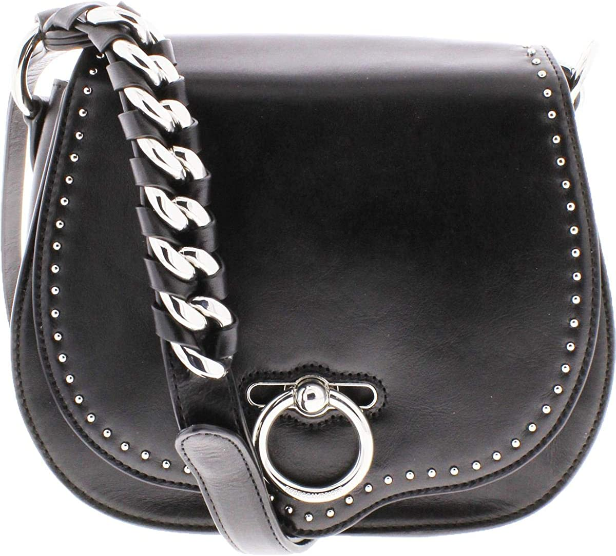 Rebecca Minkoff Jean Women's Leather Studded Small Convertible Saddle Handbag
