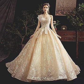 IOIOA Vestido de Novia de Novia Hepburn Master para Mujer ...